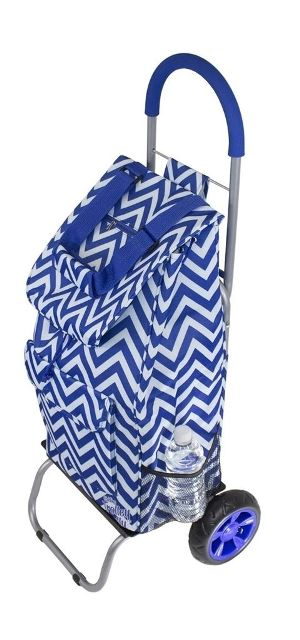 Dbest 01-587 Trendy Trolley Dolly - Blue Chevron