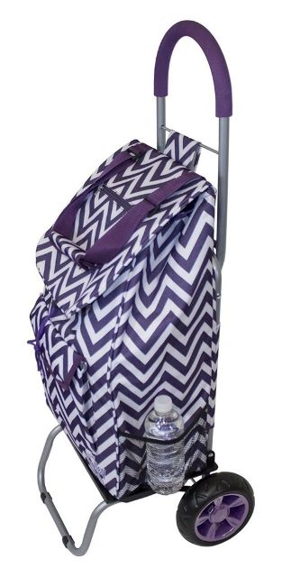 Dbest 01-597 Trendy Trolley Dolly - Purple Chevron