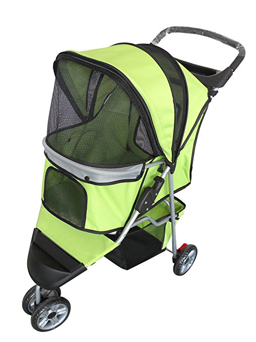 AmorosO 6557 Pet Jogging Stroller, 6 Wheel - Green