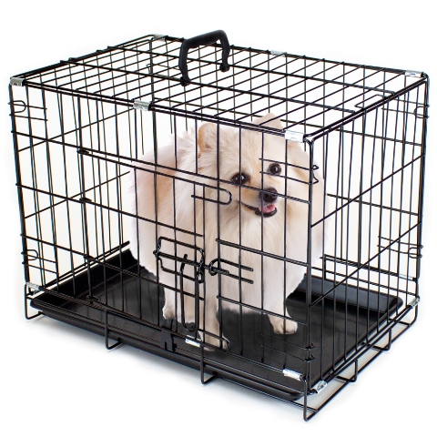 BrybellyHoldings ACAG-001 18 in. XS Folding Metal Pet Crate With Removable Liner