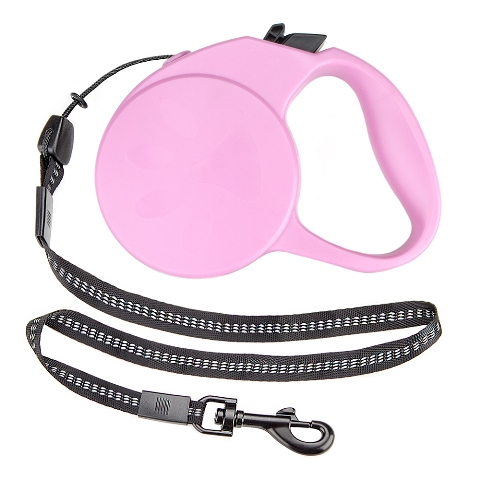 BrybellyHoldings ALSH-001 10-foot XS Retractable Dog Leash - Pink
