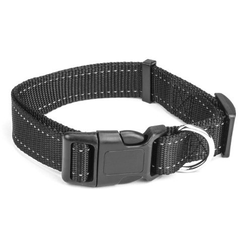 BrybellyHoldings ACLR-202 Large Black Adjustable Reflective Dog Collar