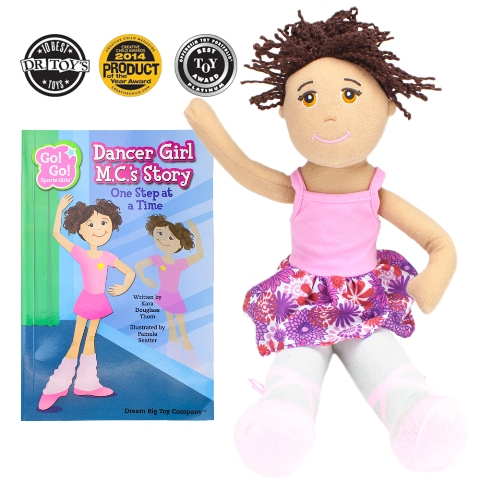 BrybellyHoldings TDBT-04 Dancer Girl M.C. Read & Play Doll And Book Set