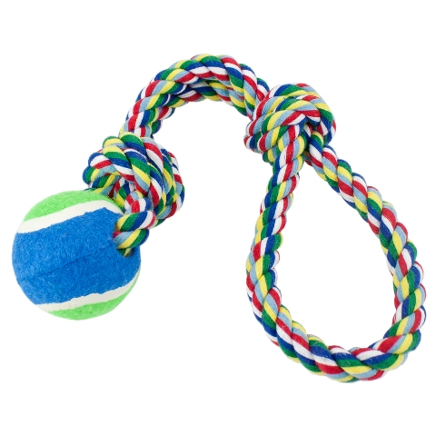 BrybellyHoldings ADTY-002 Tossn Floss Fling Rope With Tennis Ball