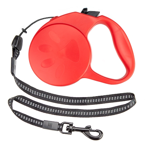BrybellyHoldings ALSH-003 10-foot XS Retractable Dog Leash - Red