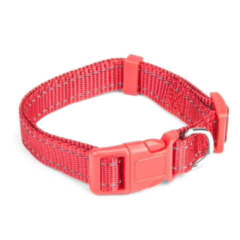 BrybellyHoldings ACLR-001 Small Red Adjustable Reflective Dog Collar