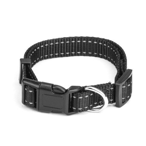 BrybellyHoldings ACLR-102 Medium Adjustable Reflective Dog Collar - Black