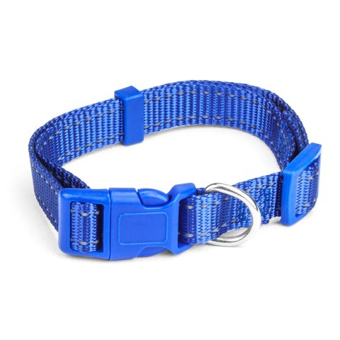 BrybellyHoldings ACLR-103 Medium Adjustable Reflective Dog Collar - Blue