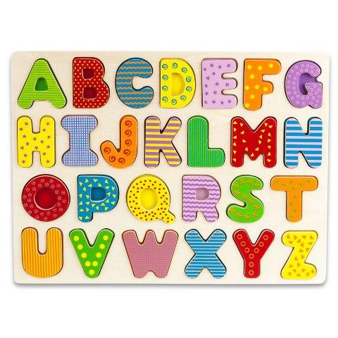 BrybellyHoldings TPUZ-301 Professor Poplars Wooden Alphabet Puzzle Board