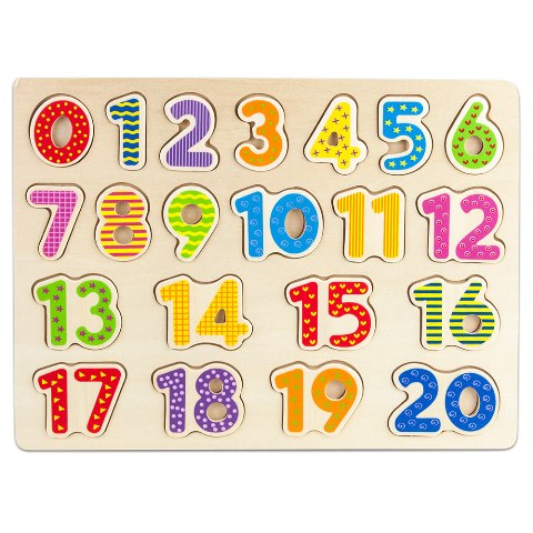 BrybellyHoldings TPUZ-303 Professor Poplars Wooden Numbers Puzzle Board