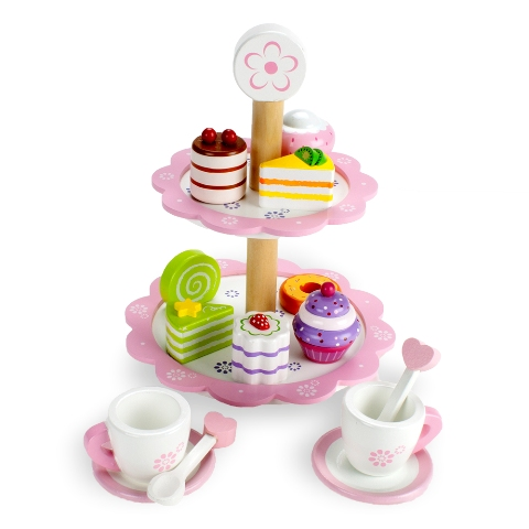 BrybellyHoldings TEAT-006 Wood Eats Tea Time Pastry Tower BRYBL3896