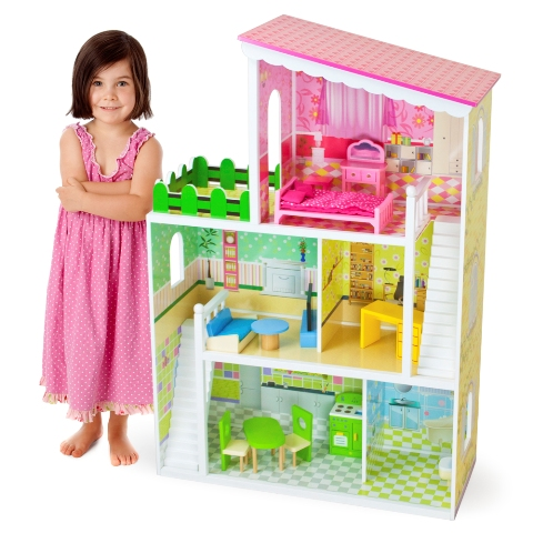 BrybellyHoldings TDOL-001 Wooden Wonders Living Large Modern Doll House