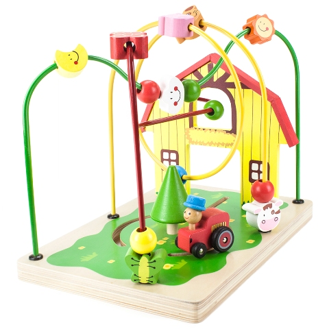 BrybellyHoldings TCDG-008 Wooden Wonders Busy Barnyard Bead Maze