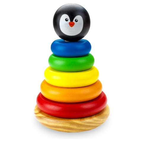 BrybellyHoldings TCDG-014 Wooden Wonders Rainbow Rings Stacking Tower