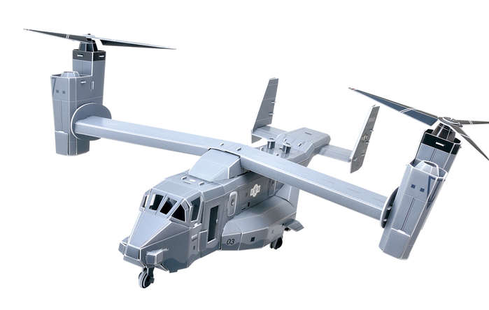 3D Puzzles CHB225 V-22 Osprey 3D Puzzle 97 Pieces DARON12934