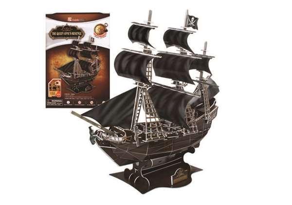 3D Puzzles CFT4005H Queen Annes Revenge 3D Puzzle 155 Pieces DARON12957