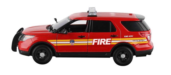 New York City Die-Cast NY71736 1-24 Fdny Ford SUV