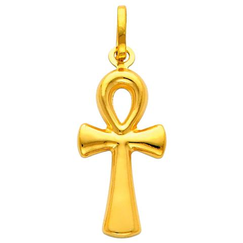 Precious Stars SELGPT013710 14k Yellow Gold Large Egyptian Ankh Charm Pendant