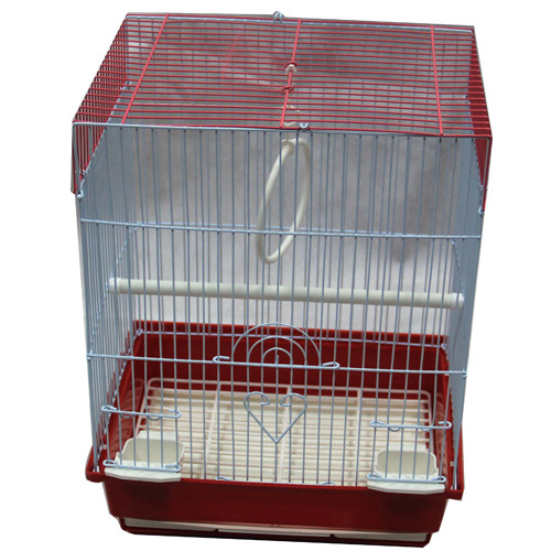 Iconic Pet 15748 Flat Top Bird Cage, Red - Small