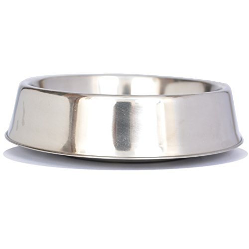 Iconic Pet 92195 Anti Ant Stainless Steel Non Skid Pet Bowl for Dog or Cat 64 oz - 8 cup DSD607752