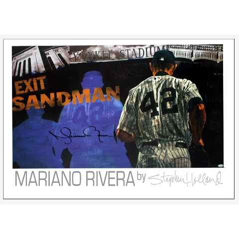 Steiner Sports RIVEPOS000001 Mariano Rivera Signed Sandman Poster