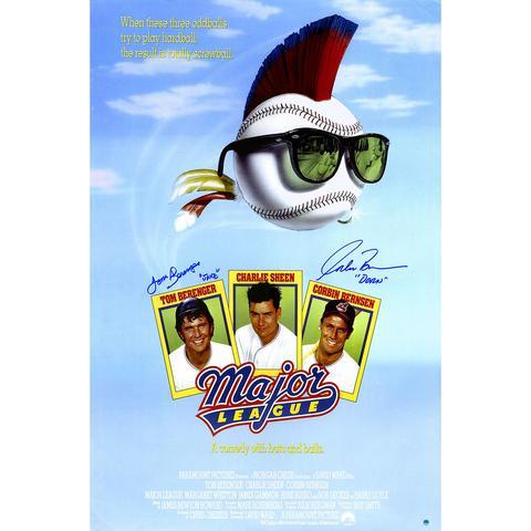 Steiner Sports MAJOPOS024000 Tom Berenger & Corbin Bernsen Dual Signed Major League 24 x 36 Movie Poster