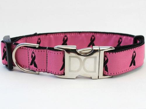 Diva Dog 843 Cancer Awareness Pink Dog Collar DVDG922
