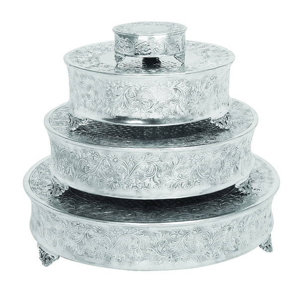 ecWorldEnterprises 7774951 Event Essentials Round Wedding Cake Stands, 4 Piece