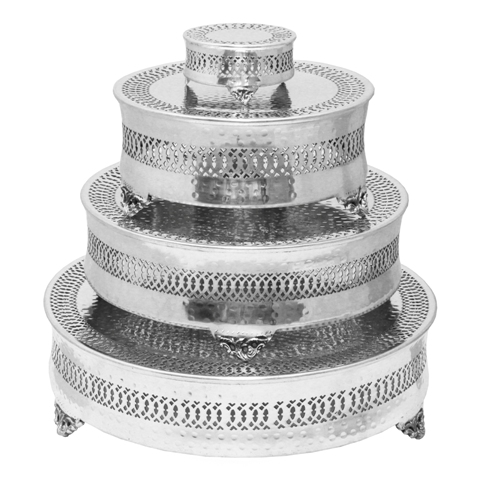 ecWorldEnterprises 7744932 Event Essentials Round 4 Tier Wedding Cake Stands