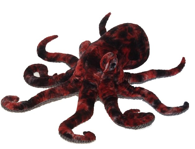 Fiesta Toys A52596 Red Octopus Plush Stuffed Animal Toy by Fiesta Toys - 32 in.