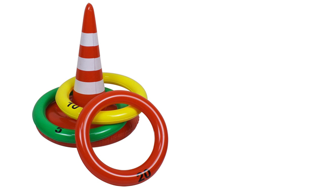 Jet Creations FUN-06 Traffic Cone Ring Toss Game