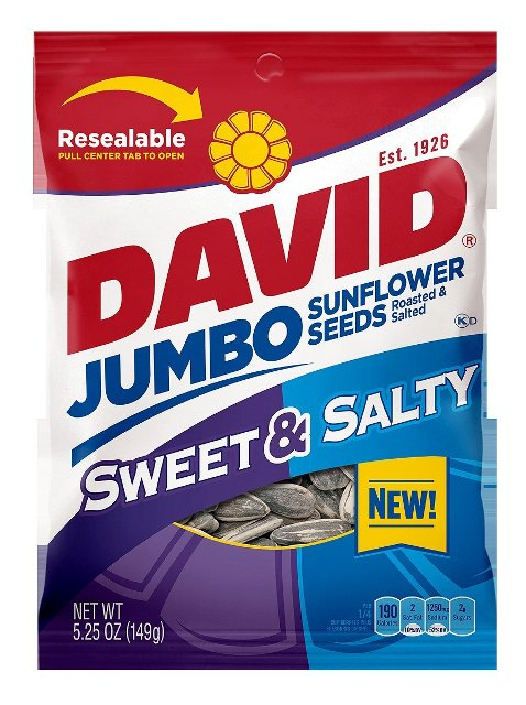 DAVID SUNFLWR SEED JUMBO REDSOD-5.25 OZ -Pack of 12