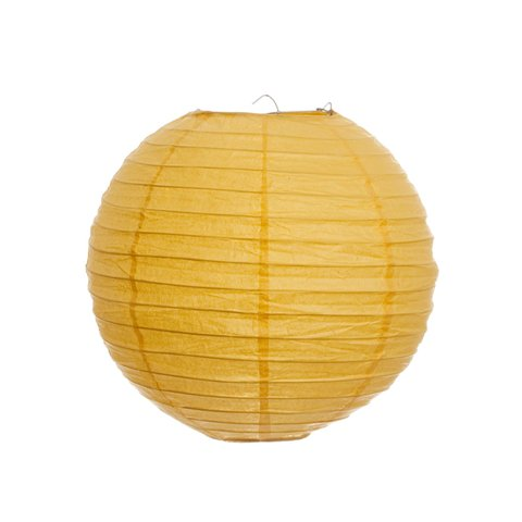 Koyal Wholesale 402217 Paper Lanterns - Yellow - 14 in.