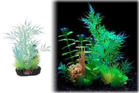 Penn Plax AJPG45 Small Bamboo Leaf Glow Plant - 8.5 in.
