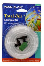 Penn Plax AK1 Aquarium Total Air Kit Tubing, Stone & Valves