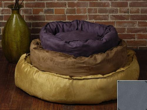 The Shrimp 3789 - Large Nest Bed - Faux Suede - Clay BGSH251