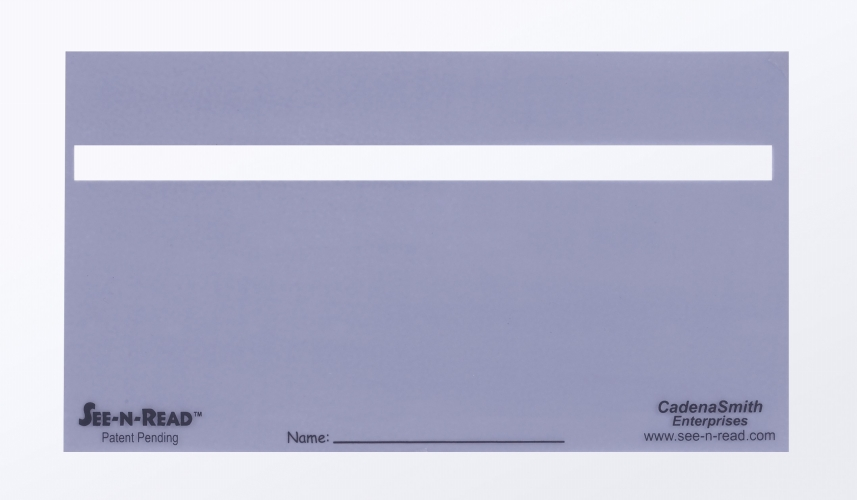 Cadena Smith Enterprises CE1258 See-N-Read Reading Tools-Document Size- Pack of 25