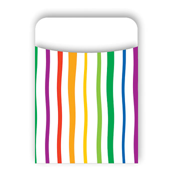 Barker Creek & Lasting Lessons Las1209L Pick-A-Pocket Library Pockets Stripes
