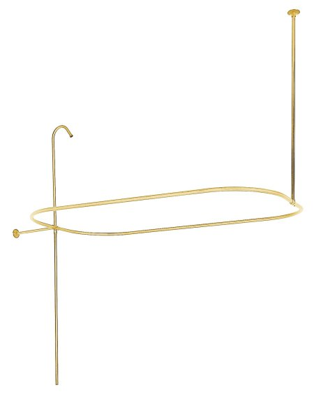 Kingston Brass ABT1040-2 Oval-Shape Shower Riser With Enclosure - Polished Brass
