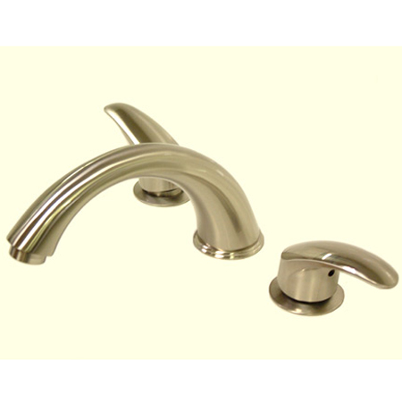 Kingston Brass KS6368LL 8 Inch -18 Inch Widespread Roman Tub Filler - Satin Nickel