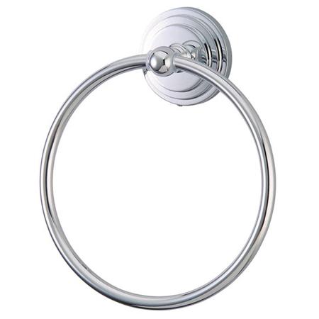 Kingston Brass BA2714C Milano 6 Inch Towel Ring - Polished Chrome