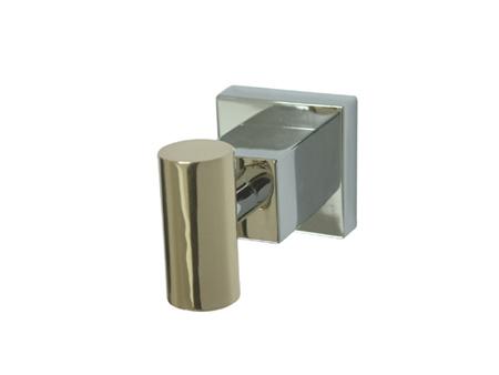 Kingston Brass BAH8647CPB Claremont Robe Hook - Polished Chrome - Polished Brass