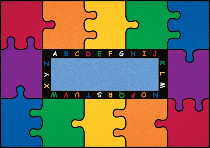 Learning Carpets CPR450 - Abc Puzzle Rect. Small