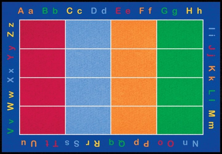 Learning Carpets CPR455 - Abc Squares Rect. Small LCAR032