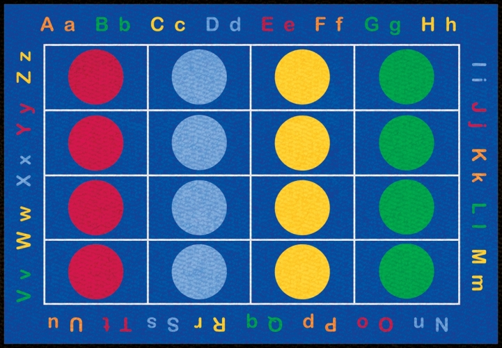 Learning Carpets CPR463 - Abc Dots Rect. Small