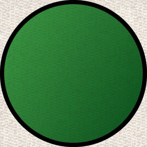 Learning Carpets CPR465 - Solid Green Round Small