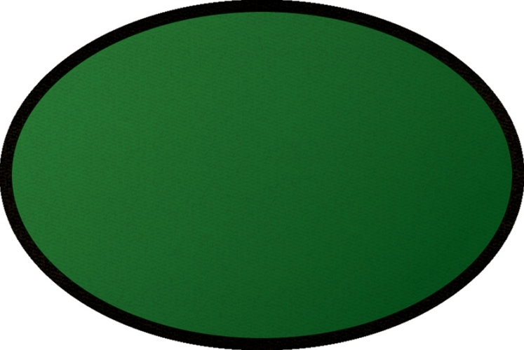 Learning Carpets CPR469 - Solid Green Oval Small