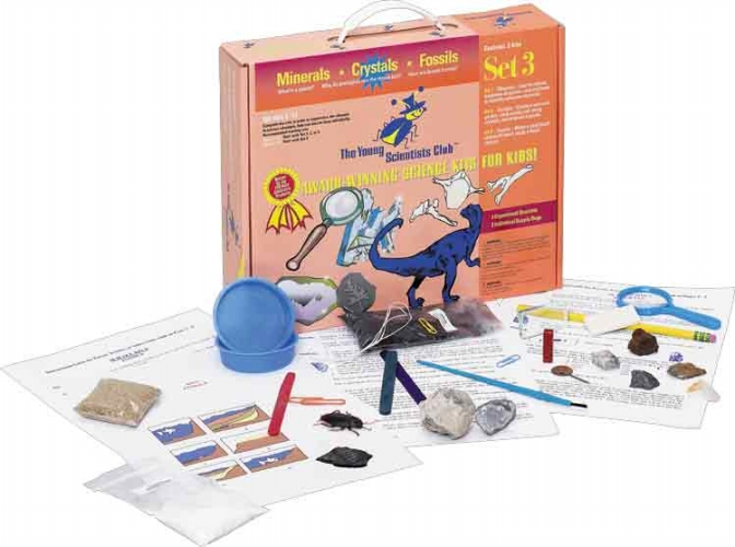The Young Scientists Club WH-925-1103 Young Scientist Series- Set 3: Minerals - Crystals - Fossils