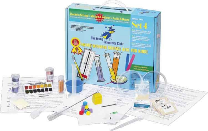 The Young Scientists Club WH-925-1104 Young Scientist Series- Set 4:Bacteria and Fungi - Weight and Volume - Acids and Bases