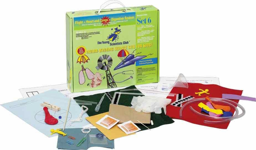 The Young Scientists Club WH-925-1106 Young Scientist Series- Set 6: Flight - Heart and Lungs - Digestive System